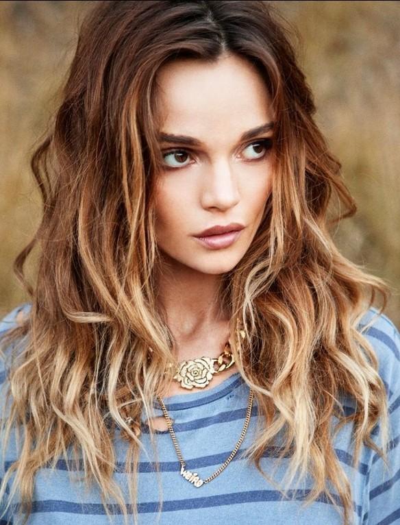 best long hairstyles for 2015 ombre wavy hair - Αυτά είναι τα χτενίσματα που θα κάνουμε την Άνοιξη
