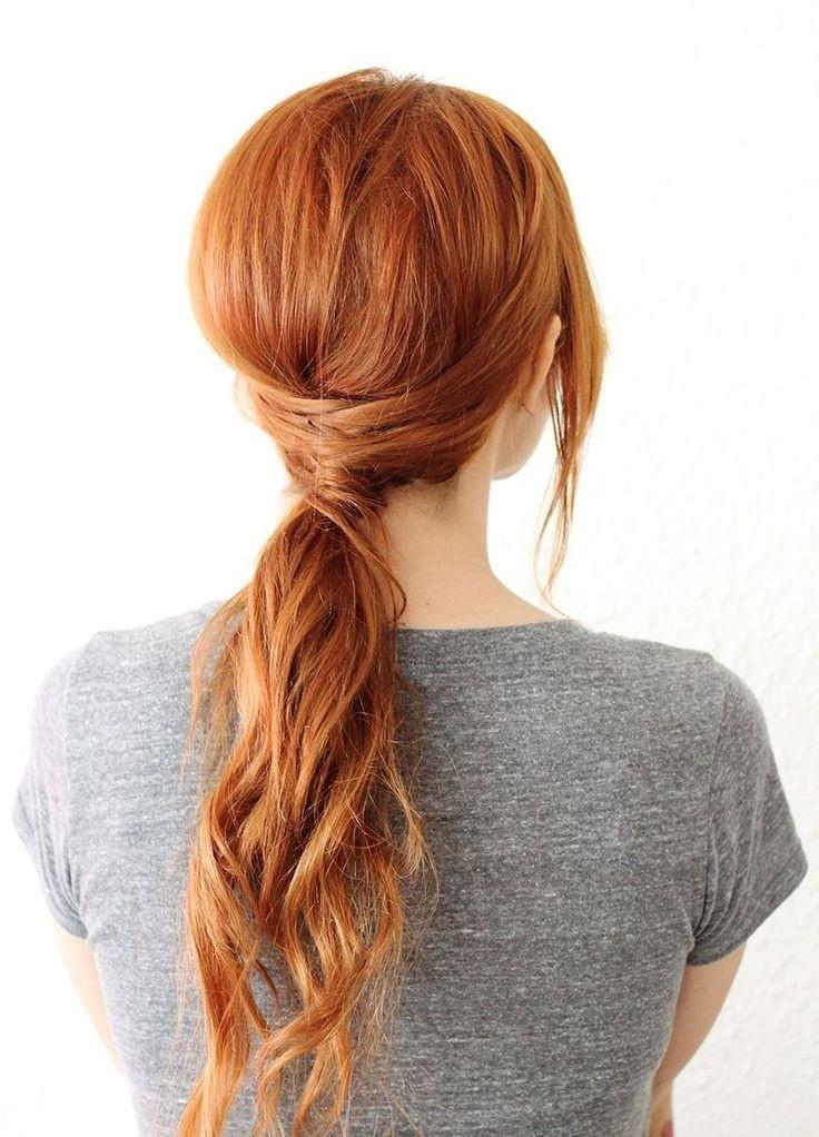 easy low ponytail hairstyle long hair styles 2015 - Αυτά είναι τα χτενίσματα που θα κάνουμε την Άνοιξη