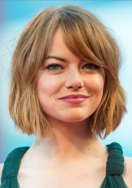 emma stone short hairstyle short bob haircuts for bangs - Αυτά είναι τα χτενίσματα που θα κάνουμε την Άνοιξη
